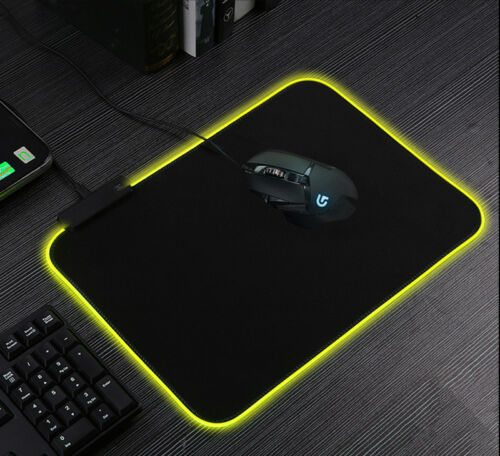 RGB Gaming Mouse Pad Rubber Mat RGB Colorful LED Lighting Gaming Mouse Pad For PC Computer 3D24 3