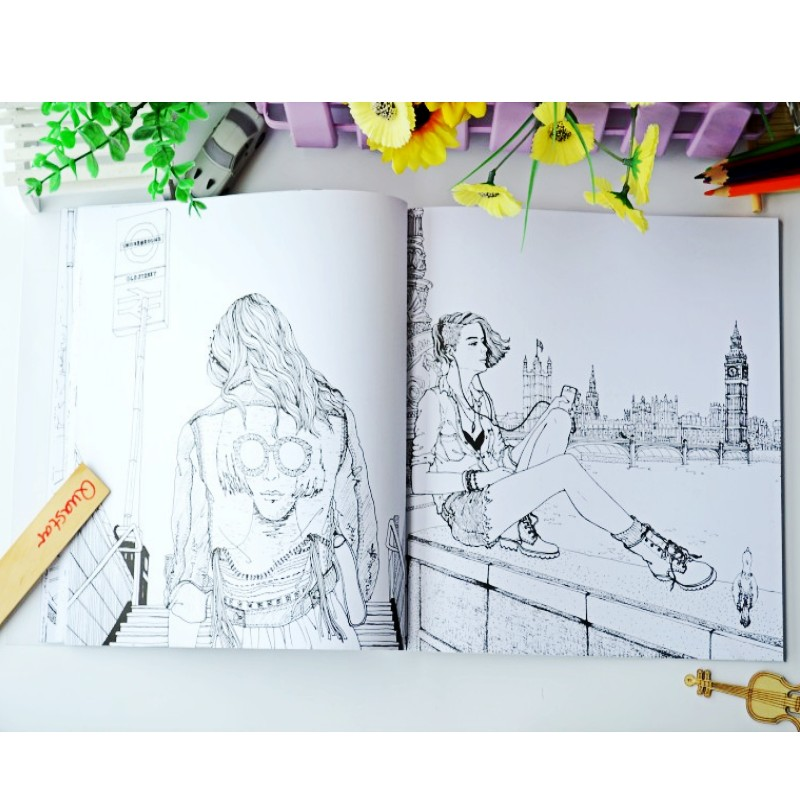 Aliexpress Buy 2017 Fashion LOOK Coloring Books For Adult Children Girls Antistress Art Drawing Painting Secret Garden Colouring Book Libros From