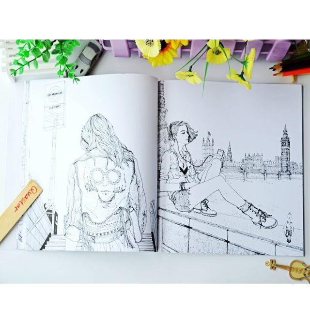 2018 Fashion LOOK Coloring Books For Adult Children Girls Antistress Art Drawing Painting Secret Garden Colouring Book Libros