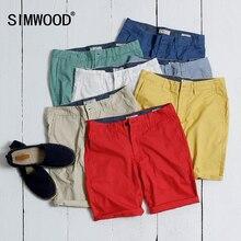 Simwood брендовая одежда мужские шорты Лето 2016 модная повседневная однотонная хлопковая Slim Fit Короткие штаны плюс размер Бесплатная доставка KD5019