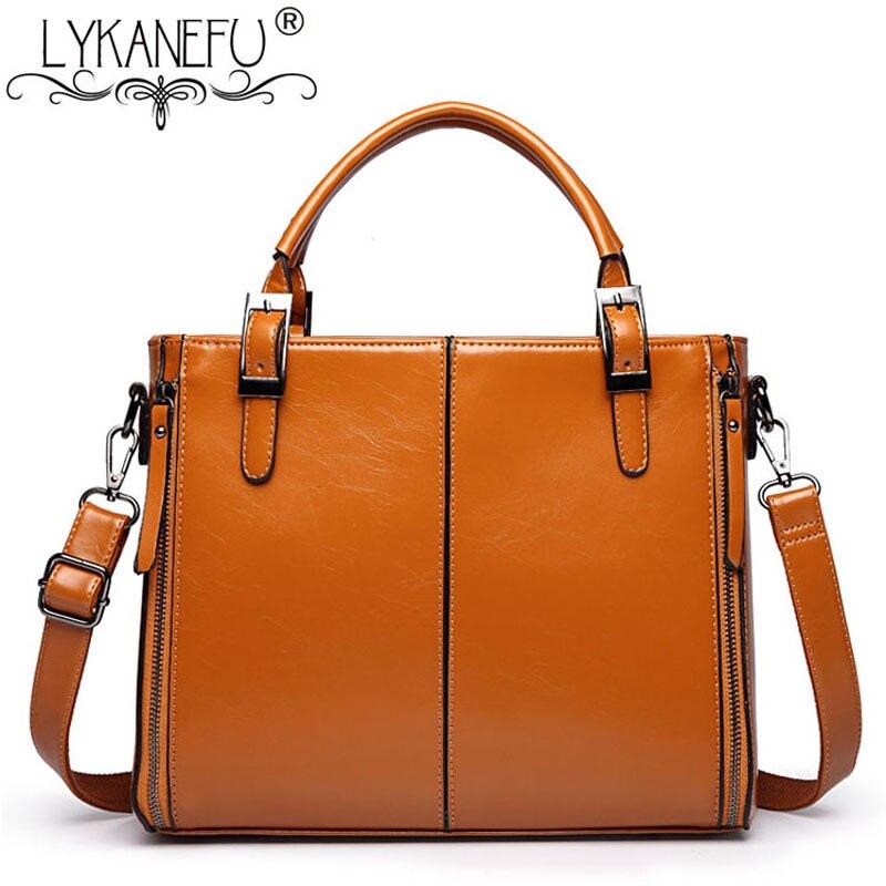 LYKANEFU Luxury Handbags Women Bags Designer Lady Purse Retro Women Handbag PU Leather Tote Shoulder Bags with Long Strap