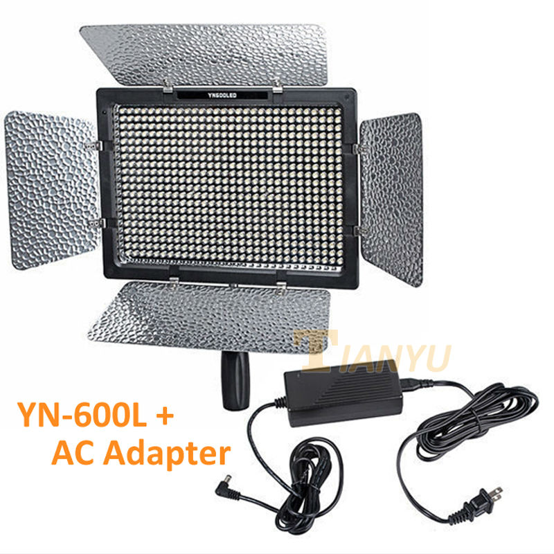 YONGNUO YN 600 YN600 600 LED Light Panel AC Adapter 5500K LED Video Light with Charger