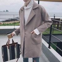 Хлопок Для мужчин Пальто для будущих мам в стиле панк зимние пальто длинный кардиган для человека Мех животных большой Размеры Куртки дешев...