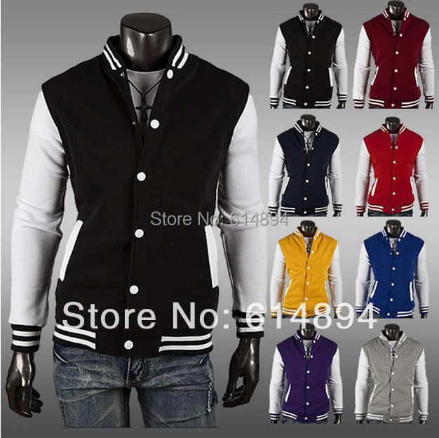Free shipping new baseball shirt man foreign trade brief paragraph flannelette fleece cardigan coat cultivate one's morality