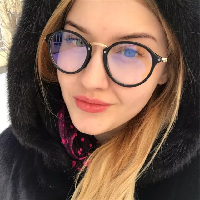 91020b8683c5d blue light glasses frame computer glasses spectacles round transparent female  women s eyeglasses frame 2018 Optical frames clear
