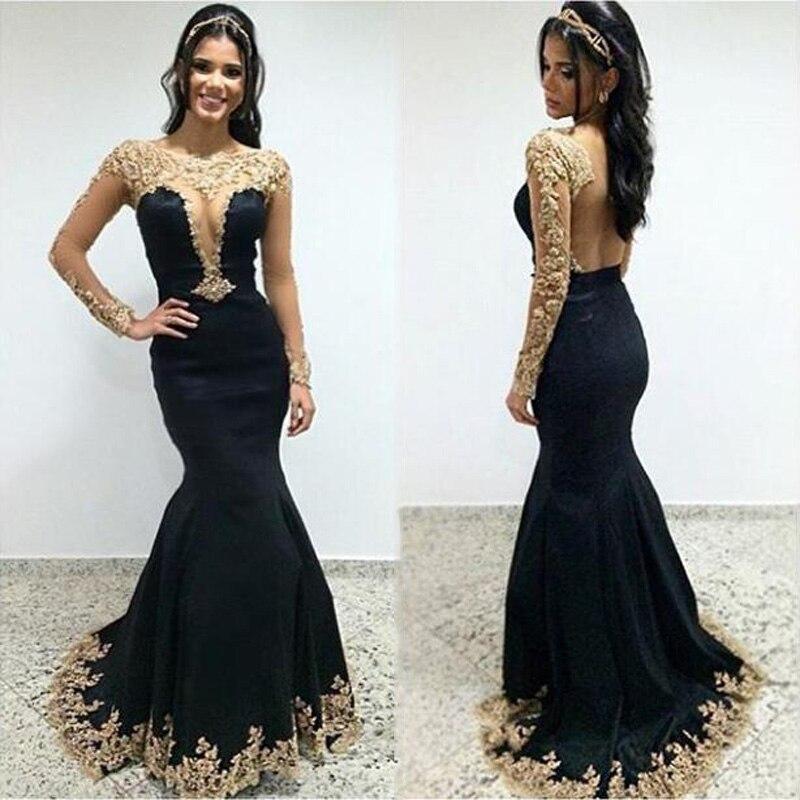 Online Get Cheap Black Gold Evening Dresses -Aliexpress.com ...