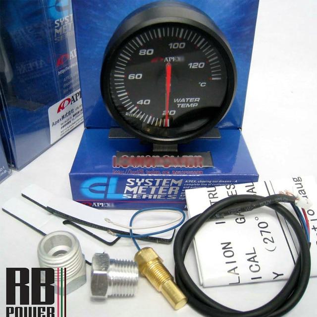 Venta caliente 2.5 Pulgadas 60mm Apex * Temp Agua Medidor de Temperatura con el Sensor Metro del coche para Subar * Impreza GC8 WRX STi GDA GDB GRB GVB