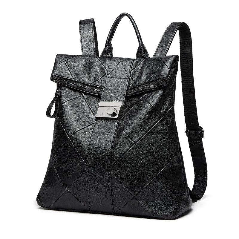 Nouveau femmes sac à dos de haute qualité en cuir PU sacs à dos de mode sacs d'école pour les adolescentes Anti-vol sac à dos pour les femmes
