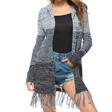 2019 Winter Warm Women Cardigan Long Sleeve Sweater Knitted Cardigan With Hat Autumn Pull Femme Thick Sweater Plus Size Black elegant cardigan sweater women 2019 autumn winter hooded 2 pieces sweaters plus size knitted female cardigan pull femme