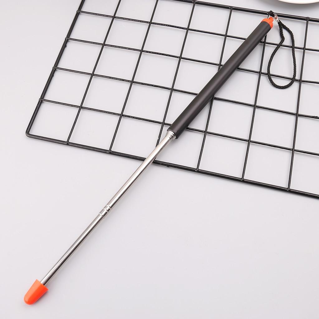 Telescoping Teacher Pointer Pole Stick Stainless Steel Extending Retractable Whiteboard Hand Teaching Supply