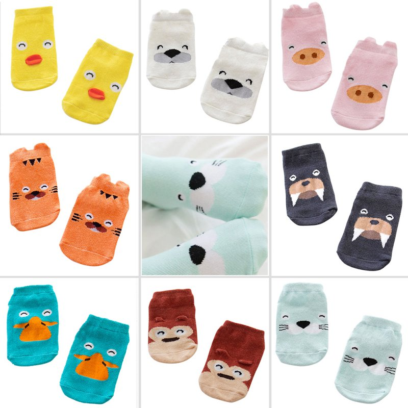 Kids-Baby-Unisex-Girls-Boys-Cotton-Cartoon-Animal-Anti-Slip-Boots-Ankle-Socks-1-4Y-3