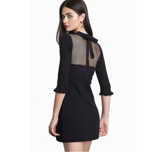 Fashion patchwork women dresses summer black casual short dress bodycon dress vestido festa knitted womens clothing