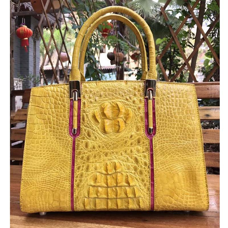 yongliang 2018 new lady old crocodile big skull leather bag fashion multicolor leather handbag the little old lady in saint tropez