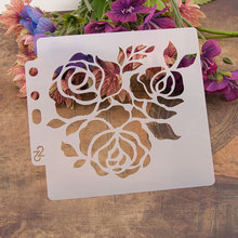 Rose Flower Sticker Painting Stencils for Diy Scrapbooking Stamps Home Decor Paper Card Template Decoration Album Crafts Art merry christmas tree sticker painting stencils for diy scrapbooking stamps home decor paper card template decoration album craft