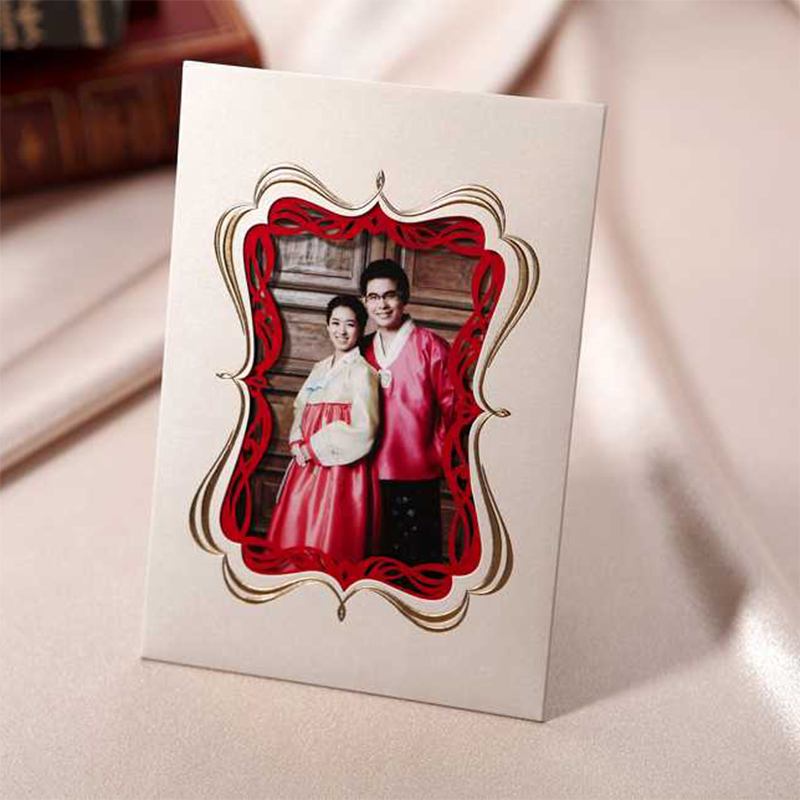 Design Elegant White Vintage Photos Wedding Invitations Kit Printing Invitation Cards Blank Ppaer Card Casamento Convite Lot square design white laser cut invitations kit blanl paper printing wedding invitation card set send envelope casamento convite