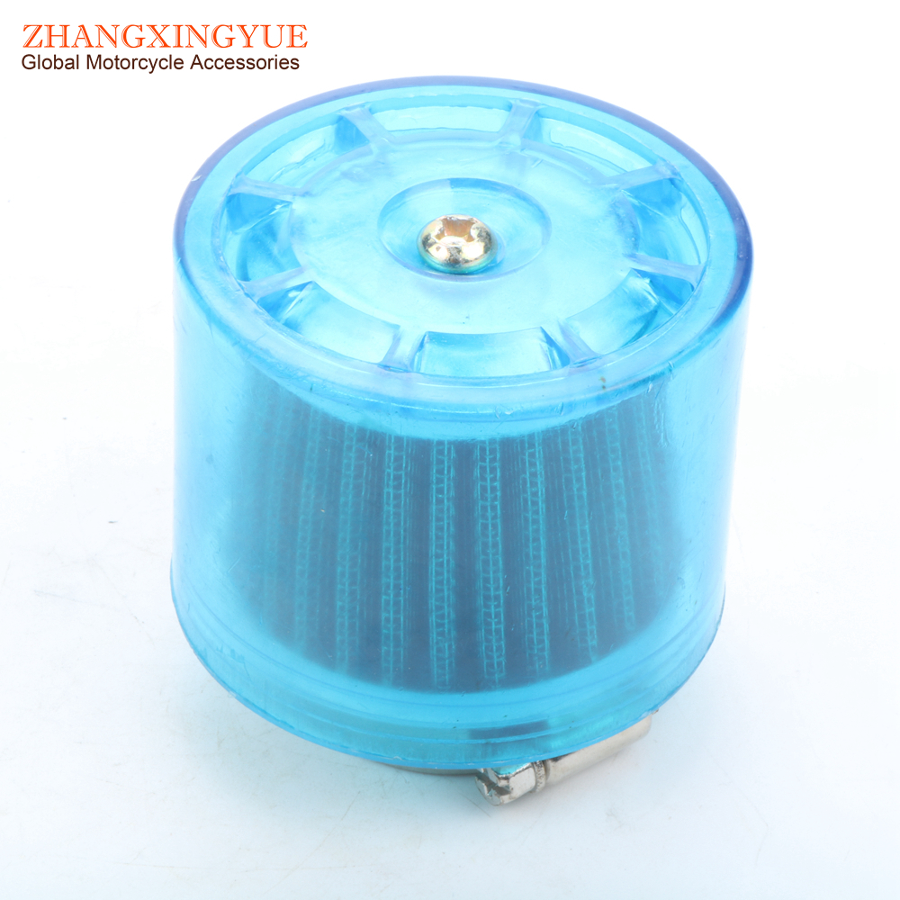 28mm 32mm 35mm 38mm Performance Air Filter For Chinese GY6 50cc ATV Moped  Scooter Blue cover
