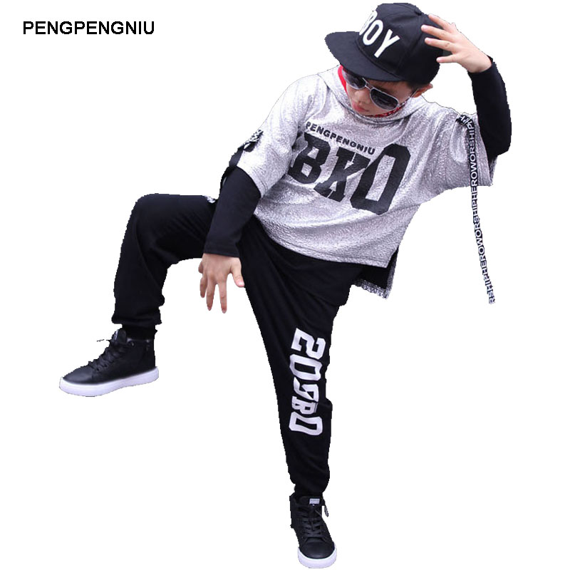 pengpengniu boys hip hop outfit kids streetwear girls street dance clothing set for spring. Black Bedroom Furniture Sets. Home Design Ideas