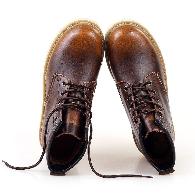 Botas Zapatos Primavera Otoño Hombres Moda Italiano Cuero Arranque wine Trabajo Montar Ccharmix Hombre De Black Red Tobillo Los bronze HnPxqfn5Cw
