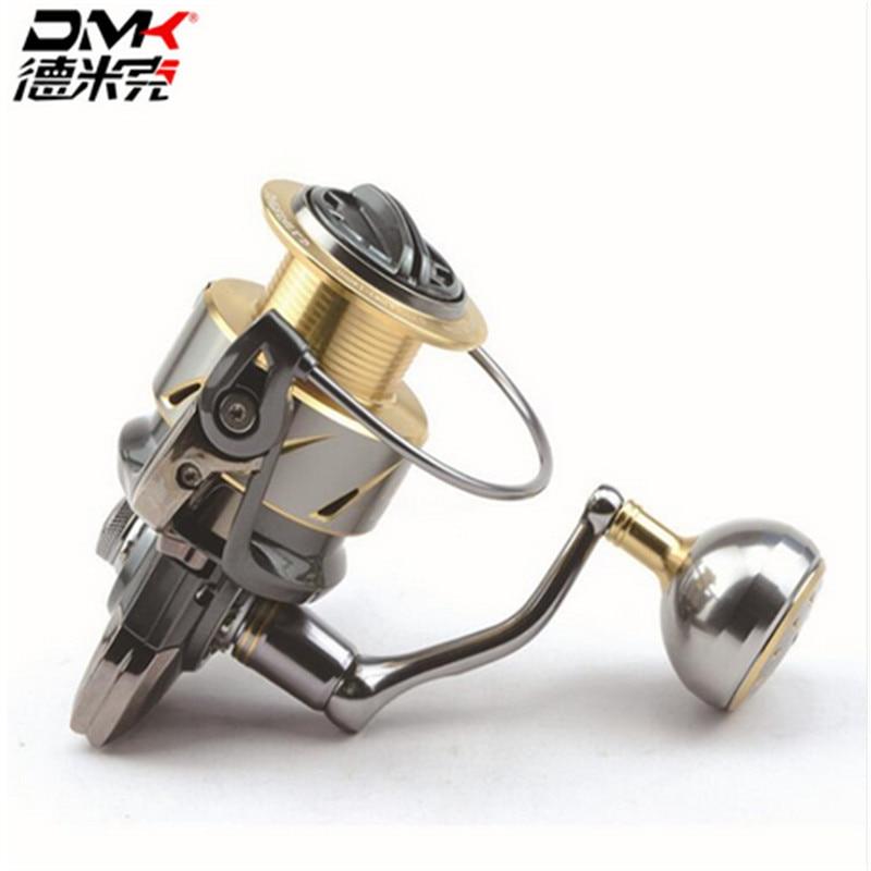 DMK 800-5000 Taille Cuillère Filature moulinet de pêche 5.2: 1/11 + 1BB Full Metal Mer Moulinet à tambour Moulinet en Peche Carretilha De Pesca