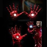 1:1 The Avengers Iron Man Aggiornato Gauntlet Guanto LED Luce Sinistra Mano Destra Nuovo con la scatola al minuto