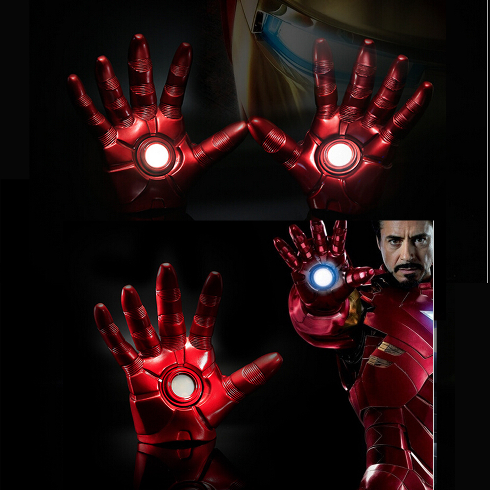1:1 The Avengers Iron Man Updated Gauntlet Glove LED Light Left Right Hand New with retail box 1 1 the avengers iron man updated gauntlet glove led light left right hand new with retail box