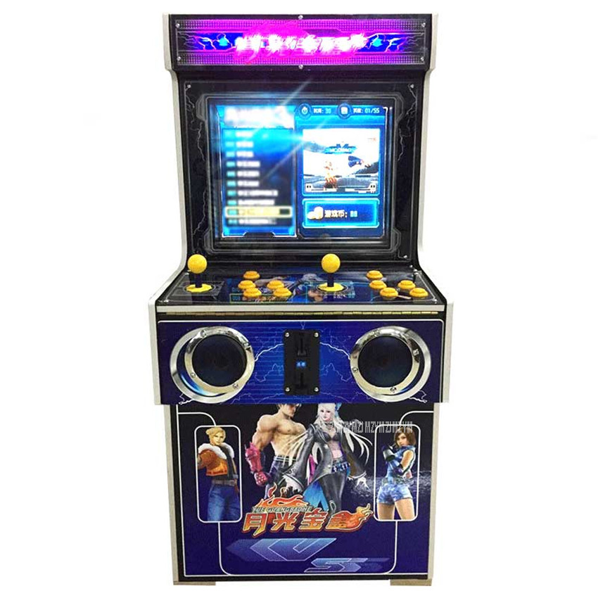 Arcade Game Console 19 LCD 800/900 Games Electric Street Arcade Fighting Box Machine Full Sanwa Joystick Button Coin Operated arcade fighting game machine virtua fighter 5 games motherboard