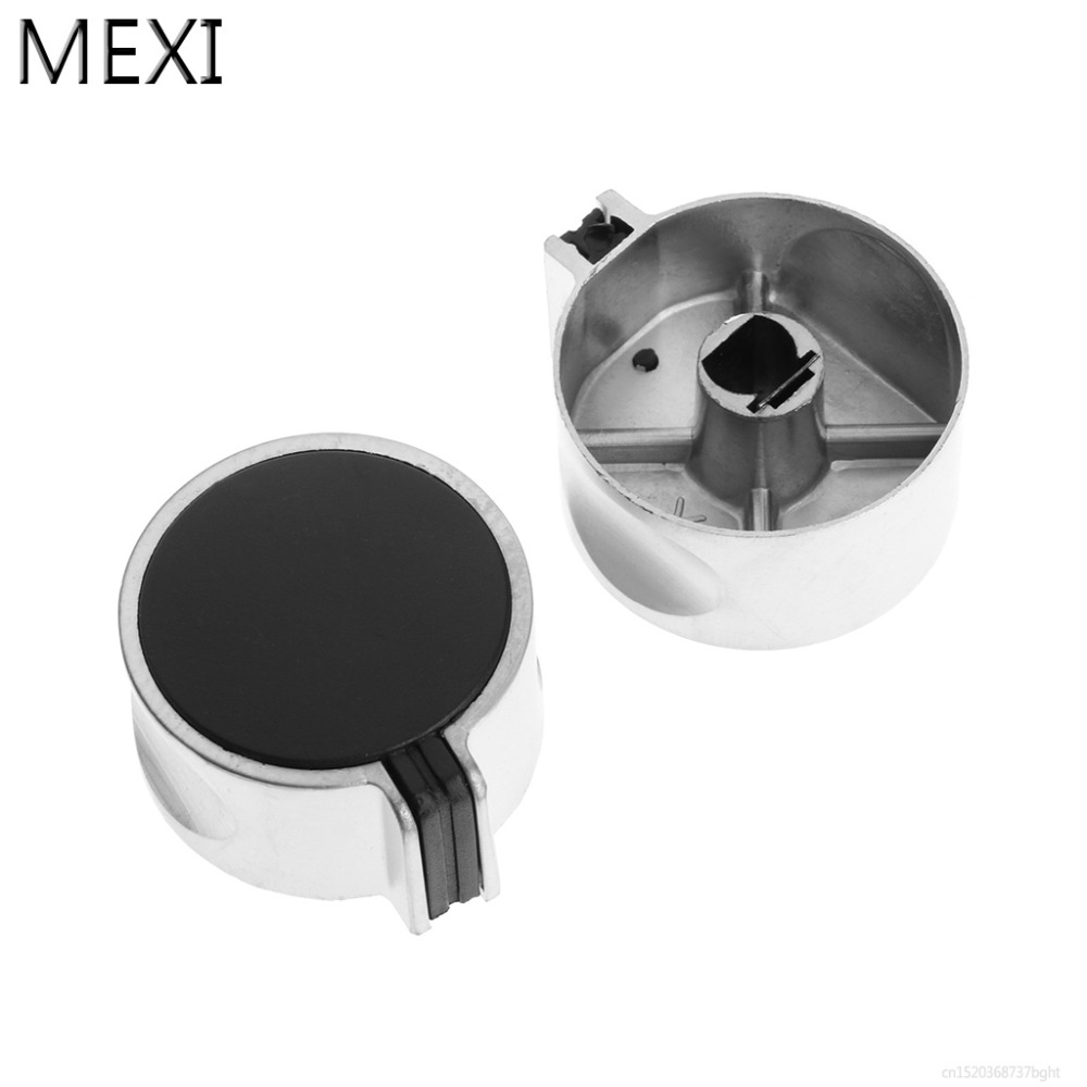 MEXI 2Pcs Metal Switch Control Knob Upward 8mm For Kitchen Cooker Gas Stove Oven Gas Range Grill Universal 4pcs set 8mm rotary switch gas stove parts stove gas stove knob stainless steel round knob knob for gas stove