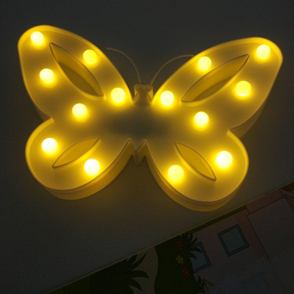 Yiyang 3D шатер бабочка свет в ночь Рождество Настольные лампы для детей Детский подарок вечерние свадебные украшения комнаты