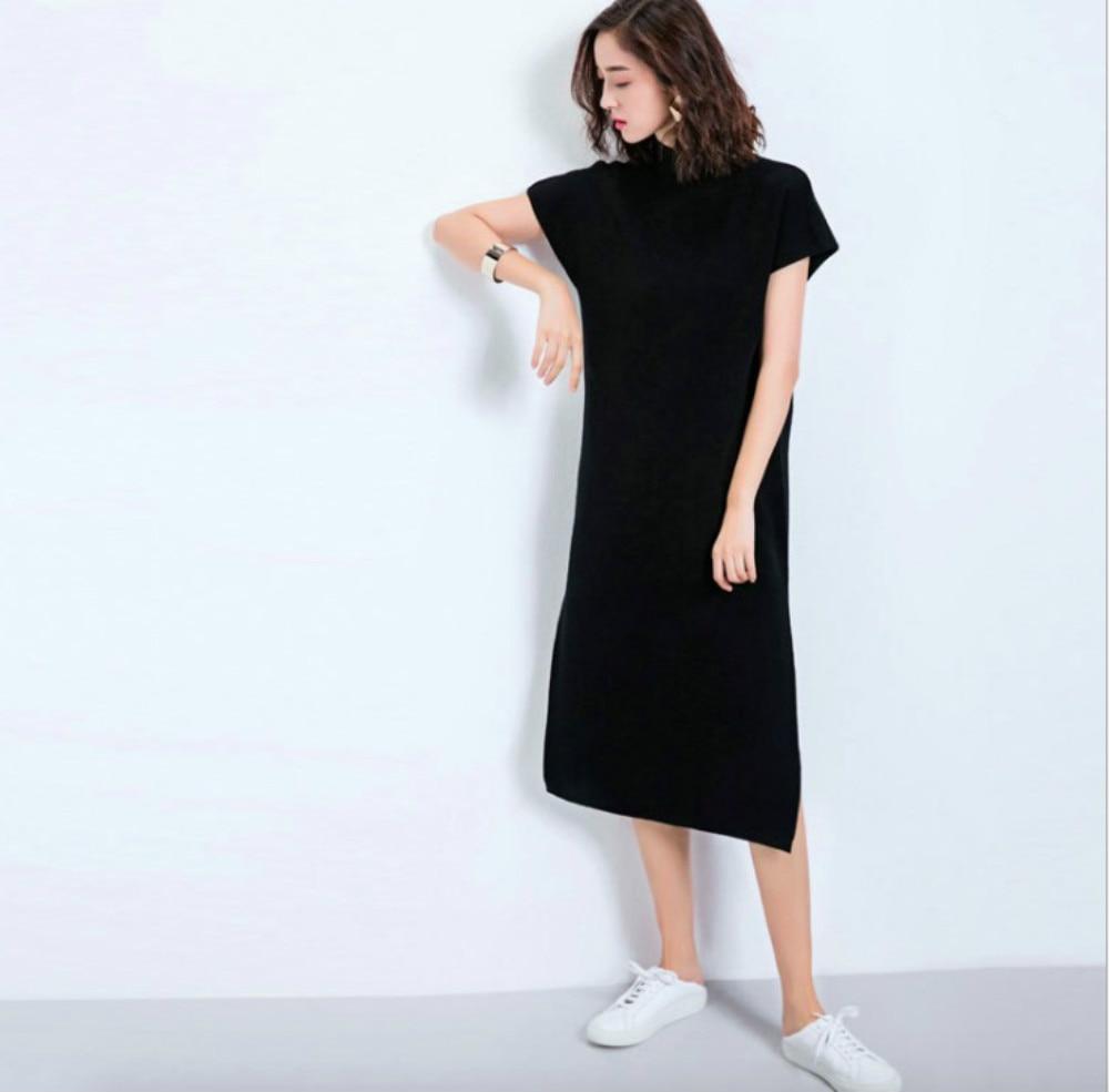 Платья из трикотажа с коротким рукавом