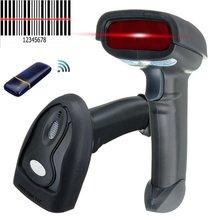 2.4 Г Беспроводной Сканер Беспроводной Ручной Лазерный Сканер Штрих-Кода USB POS Сканирования Штрих-Кода Сканер Чтения 250 К Сканирования Пистолет для Супермаркетов