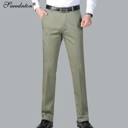 2019 новые весенние летние однотонные свободные прямые мужские повседневные хлопковые брюки длинные брюки с высокой талией брюки среднего