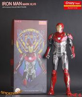 Crazy Toys Marvel Ironman Mark XLVII Mk47 1/6 scale Iron Man PVC Statue Action Figure Model Toys in Movie Spiderman