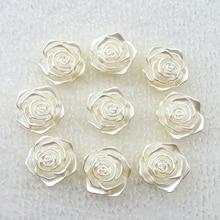 3D Scrapbook Rose-Flower Back-Cabochon Jewelry Embellishment Decoration-A979 Flat Resin