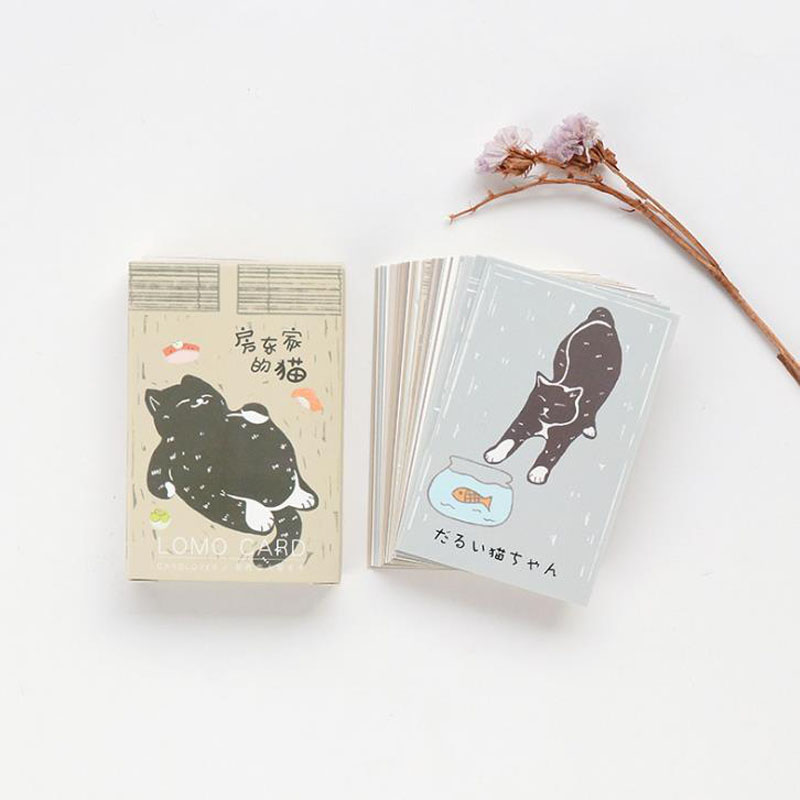 28sheets/pack hot Cute animal Pet cat life student mini card greeting card lomo memo card kids gift postcard school stationery