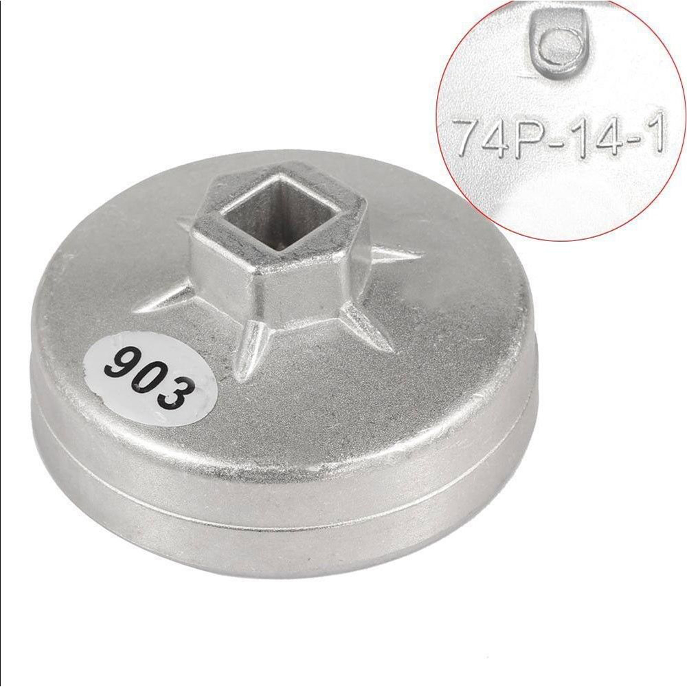 74mm 14 Flute Aluminum Oil Filter Wrench Socket Remover Tool For Benz
