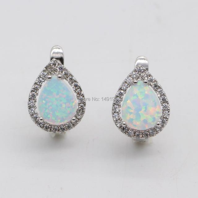 Jinyao jóias Nobby fogo Opal & Cubic Zirconia 925 stamp brincos de aniversário 5 cores