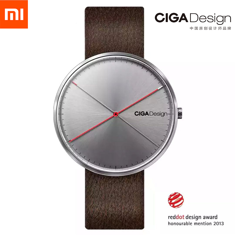 Men's Watch X Series Xiaomi CIGA Design Wristwatch Reddot Winner Watch Fashion Simple Retro Leisure Leather Couple Quartz Clock