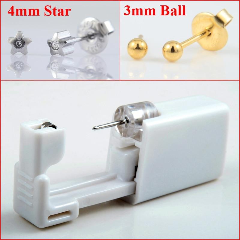 2pcs Disposable Sterile Ear Cartilage Tragus Helix Piercing Gun Tool