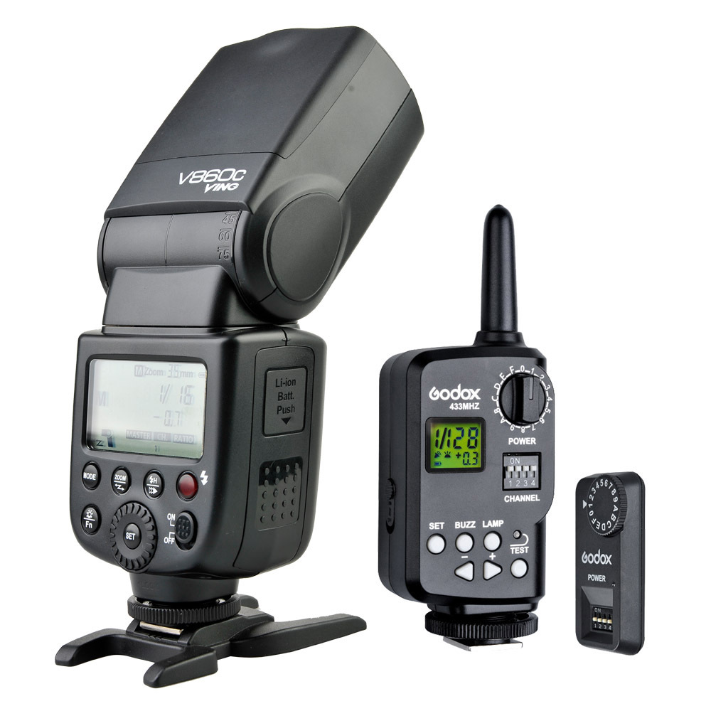 Godox V860C Speedlite Flash Li-ion Battery With FT-16S Power Wireless Control Trigger For Canon Camera 600D 60D 6D 7D 5D aputure 16 channel flash speedlite