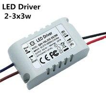 2 3x3W 10 W LED Sürücü Transformadores para 10 W COB çip/XPE 900mA motorista