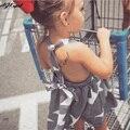 AGKupel Estrella Bebé Vestido de Las Muchachas 2016 Del Verano Del Bebé Ropa de La Muchacha Niños de La Raya de la Princesa Niños Vestido Backless Vestidos de Niña
