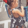 Agkupel roupas de bebê meninas vestido de verão 2016 Stripe princesa crianças vestido Backless vestidos
