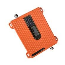 70dB مكرر 2g 3g 4g ثلاثي الفرقة إشارة معززة 900 1800 2100 GSM WCDMA UMTS LTE الخلوية مكرر ، لم يتم تضمين هوائي