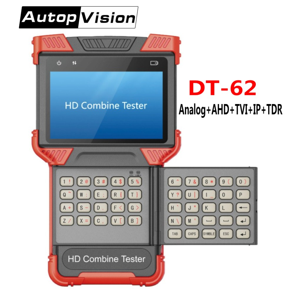 DHL FREE DT T62 4.0 Inch IP Camera Tester CCTV Camera Tester Monitor Support Analog/IP/TVI/AHD/Onvif&POE/TDR/Cable testing