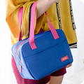 QZH Oxford Square Thermal Lunch Bags For Women Child Food Lunch Cooler Bag Waterproof  School Picnic Lady Handbag Kids