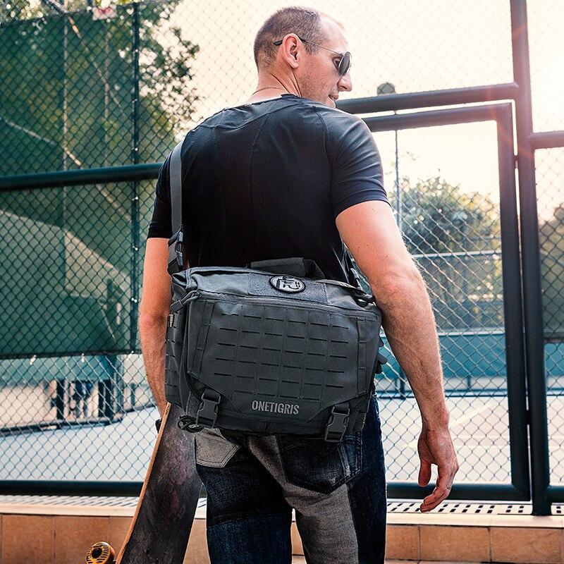 OneTigris táctico hombres bolsa de mensajero HU Pack militar ejército Crossbody bolsas para hombres viajes o vida urbana