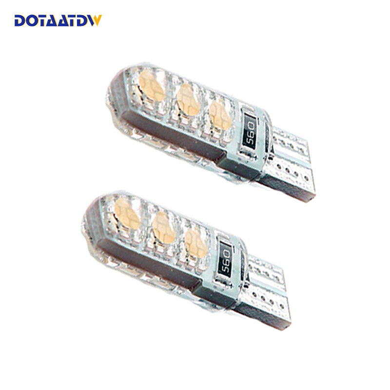 DOTAATDW 2x 400LM <font><b>T10</b></font> <font><b>W5W</b></font> <font><b>CREE</b></font> Chip 6Led 5050 SMD Canbus Car License Plate Dome Map Turn Singal Light White/Blue/Ice Blue/Red image