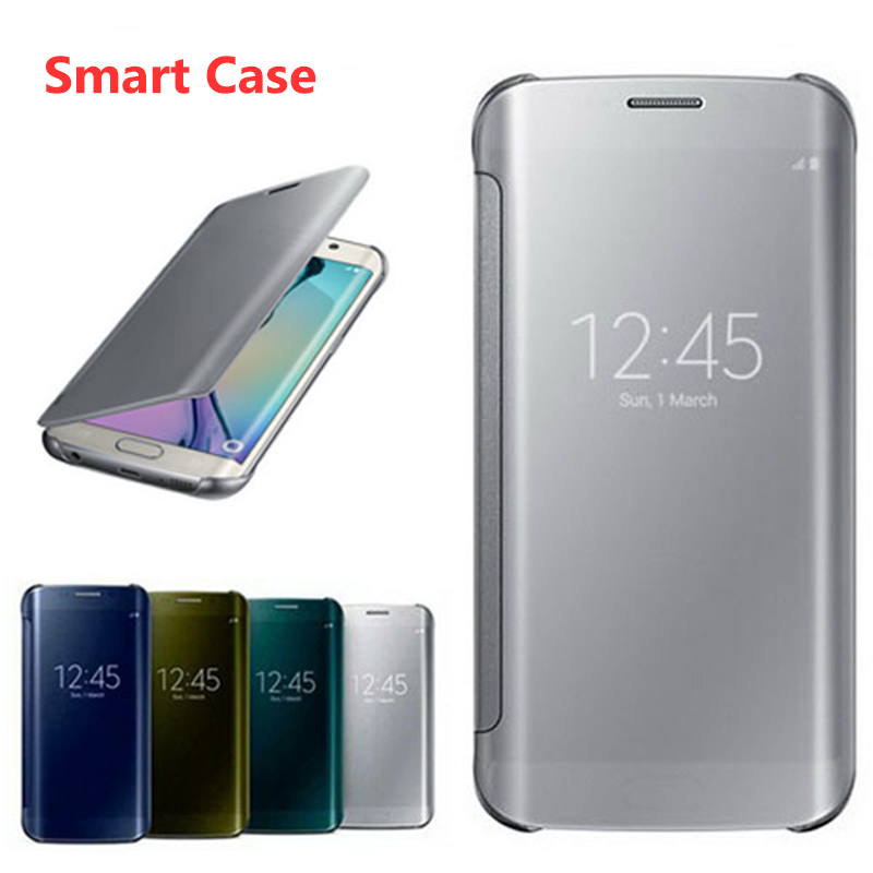 Luxury Clear Smart Case For Samsung Galaxy Note9 Note8 S9 S8 Plus Smart View Flip Cover Case for Samsung Note 9 Mirror Coques in Flip Cases from Cellphones Telecommunications