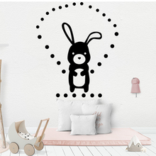 American-Style Acrobatic Rabbit Wall Stickers Adhesive Wallpaper Vinyl Removable Room Decoration Kids Room Decal Mural цена