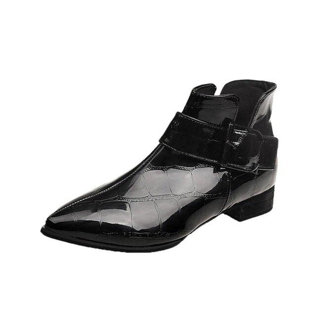 Mode Herbst Winter Frauen Stiefel Solide Europäischen Damen Schuhe Martin Stiefel Leder Stiefeletten mit dicken peeling größe 35- 40